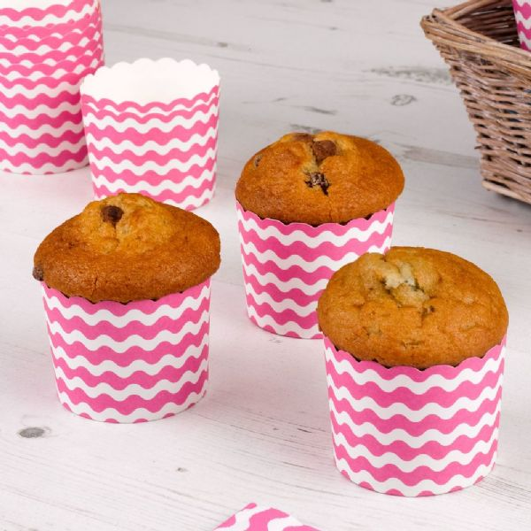Carnival Pink Baking Cups - Waves (24)